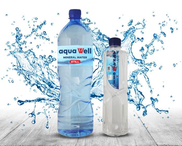 Aquawell Water 550ml and 1l