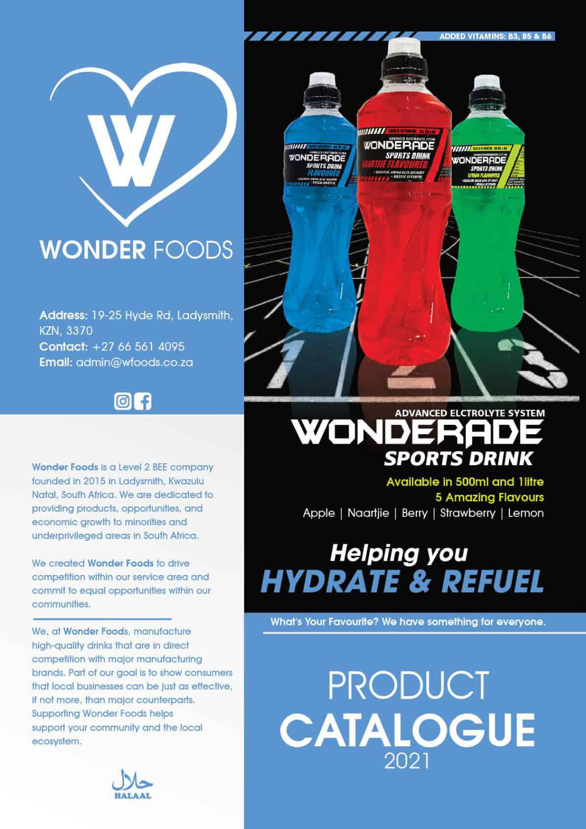 Wonder Foods Catalogue Page 1